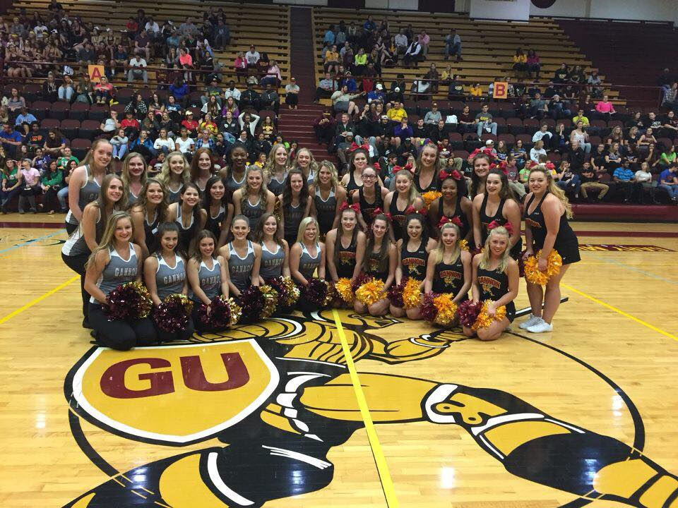 GUDT ladies with their friends on Game Day Cheer!